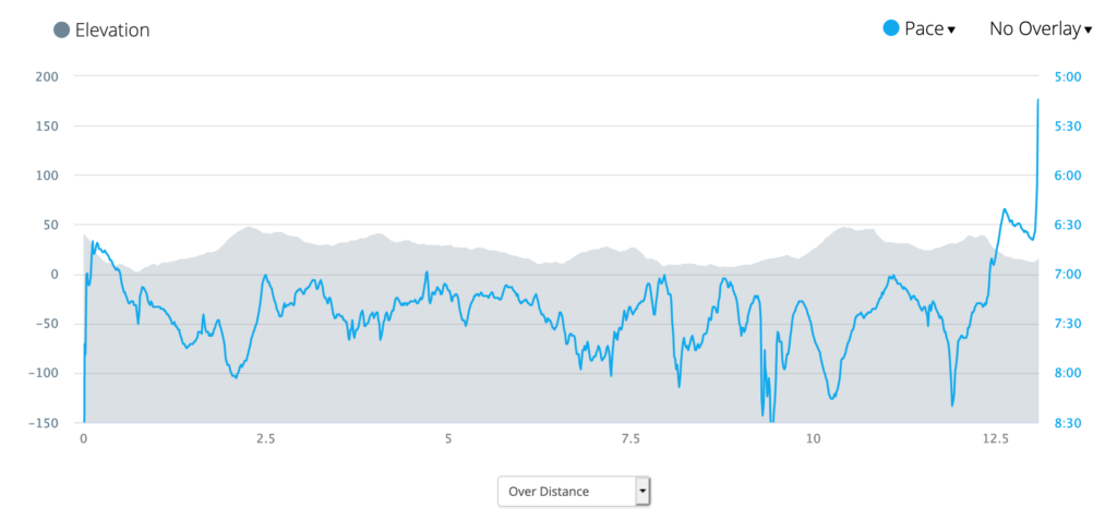 matching the pace to the route and letting the elevation dictate the mile splits