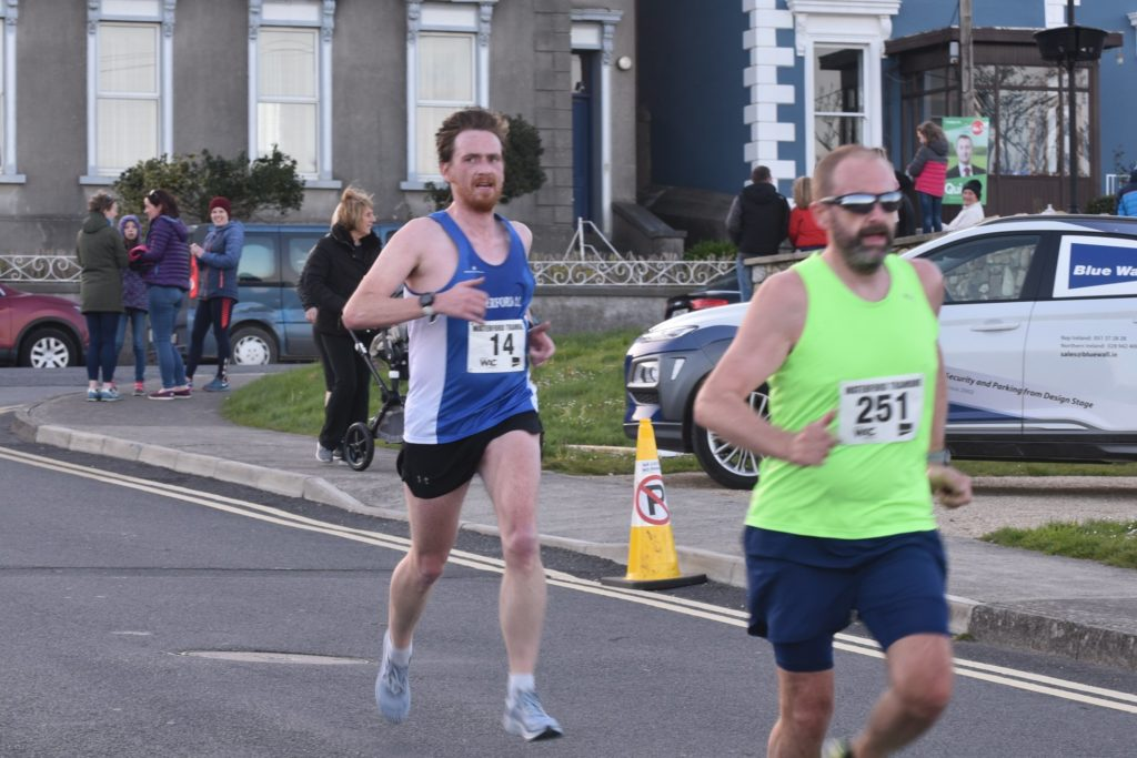 race day magic: a rather serious amount of 'side eye' catching a glimpse of the clock and realising that sub-50 was actually still on