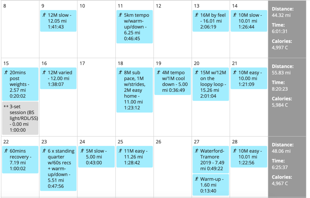 2 tempo sessions, one set of standing quarters the week of the event, surely that was enough to prepare me for race day?