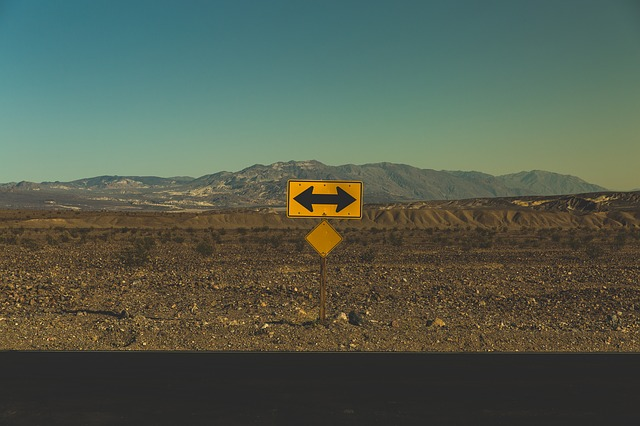 one way or another –© https://pixabay.com/photos/arrows-barren-direction-road-1834859/