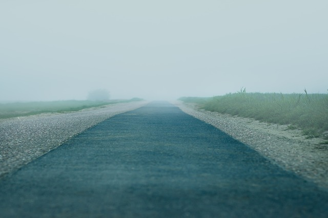 mystery route –original photo © https://pixabay.com/photos/road-fog-meadow-field-lane-lonely-4176019/